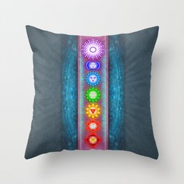 The Seven Chakras VI - Series VI Throw Pillow