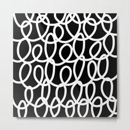 Chalkboard / White on Black Metal Print