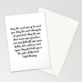 Irish Blessing May The Road Rise Up To Meet You Stationery Cards