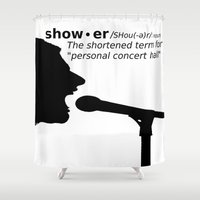 concert Shower Curtains featuring Personal Concert Hall by beoriginal