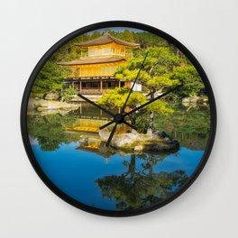 The Golden Pavilion Garden Landscape in Kyoto, Japan. Wall Clock