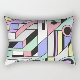 De Stijl Abstract Geometric Artwork 2 Rectangular Pillow