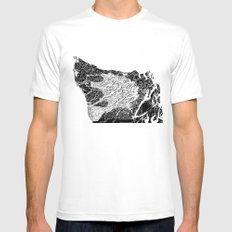 Olympic Peninsula MEDIUM White Mens Fitted Tee