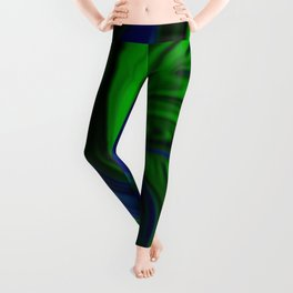 Blue and Green Wave Leggings