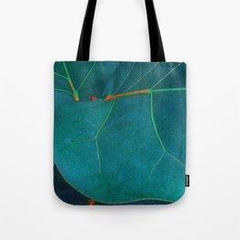 Two Sea Grape Leaves Tote Bag