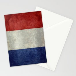 Flag of France, Bright retro style Stationery Cards