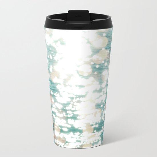 Sun glitter - golden light Metal Travel Mug