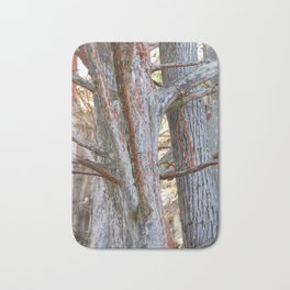 trees with Lichen Bath Mat