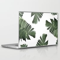 banana leaf Laptop & iPad Skins featuring Banana Leaf Frenzy #society6 by 83 Oranges™