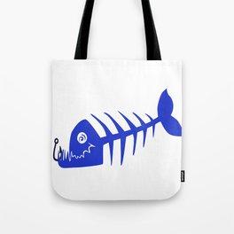 Pirate Bad Fish blue- pezcado Tote Bag