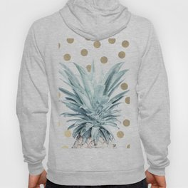 Pineapple crown - gold confetti Hoody
