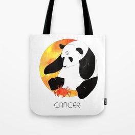 Panda Zodiac Cancer Tote Bag