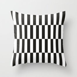 Black checkers scandinavian design Throw Pillow