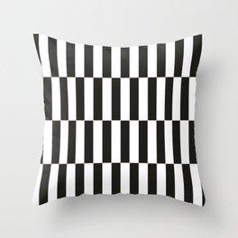 Black checkers scandinavian design Throw Pillow