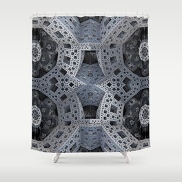 Fractal Art - spaceship drive Shower Curtain