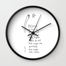 reach as high as you can Wall Clock