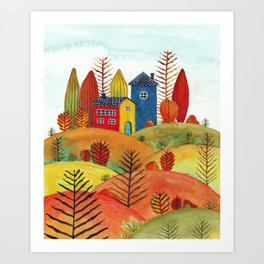 Colorful forest III Art Print
