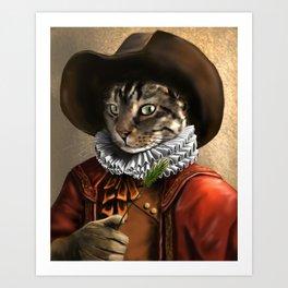 Sancho the Cat Art Print