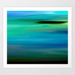 Seascape - blurography Art Print