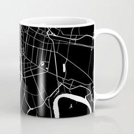Bangkok Thailand Minimal Street Map - Midnight Black and White Coffee Mug
