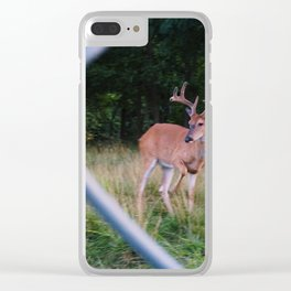 chain locked antlers Clear iPhone Case