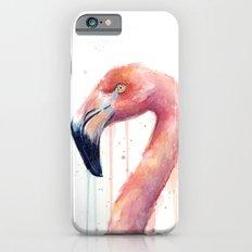 Flamingo Art Watercolor Slim Case iPhone 6s