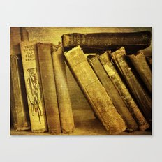 Old Books on a Shelf Canvas Print
