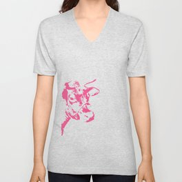 Follow the Pink Herd #700 Unisex V-Neck