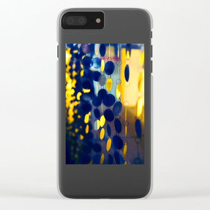 GLAM CIRCLES #Blue #1 Clear iPhone Case