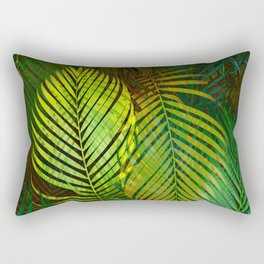 TROPICAL GREENERY LEAVES Rectangular Pillow