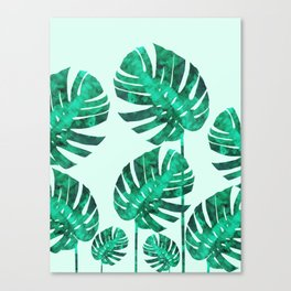 Composition tropical leaves XIX Canvas Print