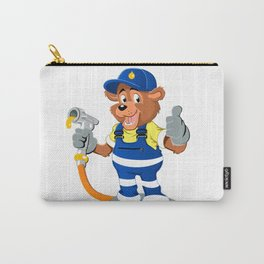bear with oil gas pump heating Carry-All Pouch