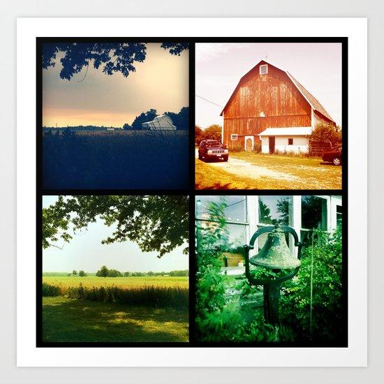 Summer on my parents' farm. Art Print