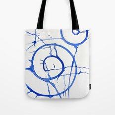 watercolor drips - blue swirl Tote Bag