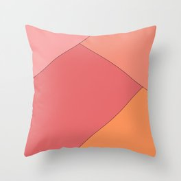 Color harmony shape Throw Pillow
