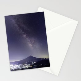 Mt. Fuji with the Milky Way Stationery Cards