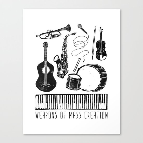Weapons Of Mass Creation - Music Canvas Print