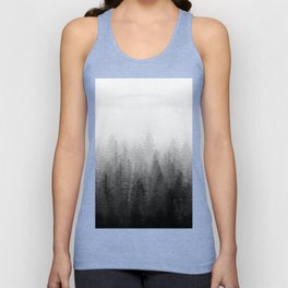 Into The Misty Nature - Black & White Unisex Tank Top