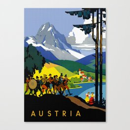 Austria - Vintage Travel Ad Canvas Print