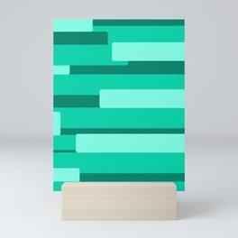 Green Abstract Pattern Mini Art Print