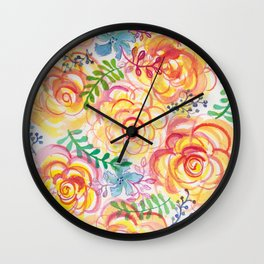 Sunshine and Roses Wall Clock