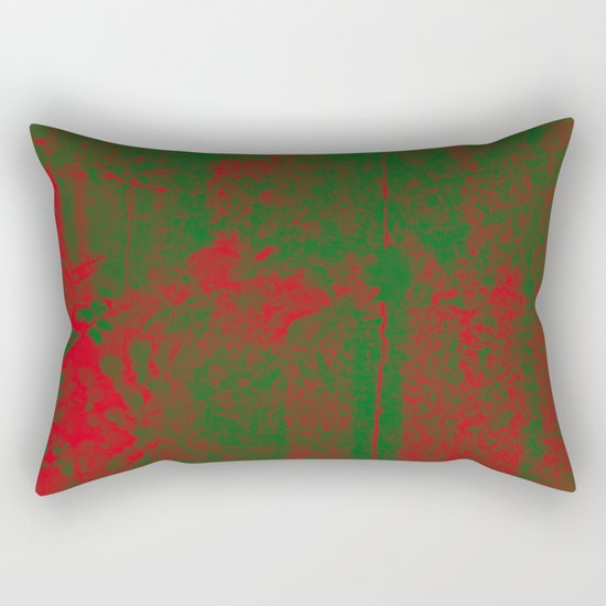 Leaves in fire red green fantasy Rectangular Pillow