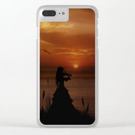 Sunset Serenade Clear iPhone Case