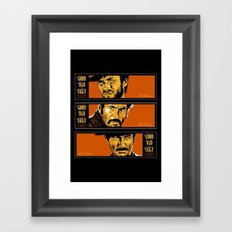 the good ,the bad , and the evil Framed Art Print