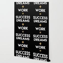 DREAMS PLUS WORK EQUALS SUCCESS Wallpaper