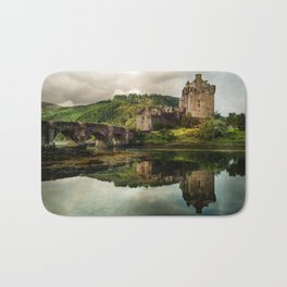 Landscape with an old castle Bath Mat