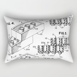 Toy Bricks Rectangular Pillow