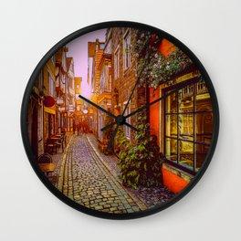Strollin In Olde Towne Wall Clock