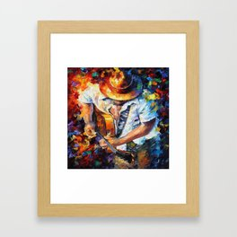 Music Love Guittar Framed Art Print