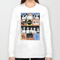 superheroes Long Sleeve T-shirts featuring Superheroes SF by WASTED RITA